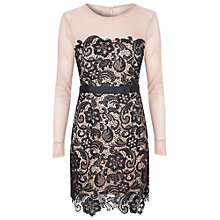 Buy True Decadence Lace Bodycon Dress, Nude/Black Online at johnlewis.com