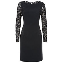 Buy Fenn Wright Manson Marti Lace Panel Dress, Black Online at johnlewis.com