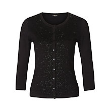 Buy Precis Petite Embellished Cardigan, Black Online at johnlewis.com