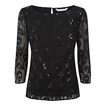 Buy Fenn Wright Manson Monique Embroidered Top, Black Online at johnlewis.com