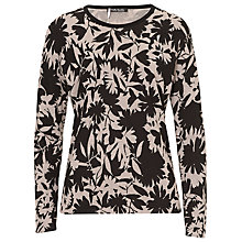 Buy Betty Barclay Printed Knit Top, Black/Taupe Online at johnlewis.com