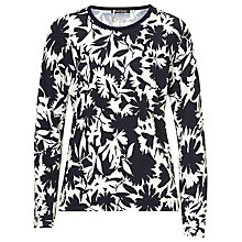 Buy Betty Barclay Floral Print Top, Black/Taupe Online at johnlewis.com