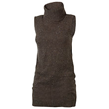 Buy Fat Face Loughton Roll Neck Jumper, Chocolate Online at johnlewis.com