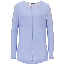 Buy Betty Barclay Crepe And Jersey Top, Lavender Blue Online at johnlewis.com