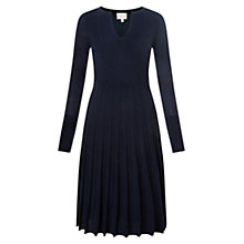 Buy East Pleat Detail Merino Dress Online at johnlewis.com
