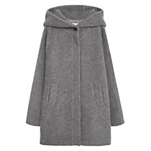 Buy Mango Hooded Wool Coat, Medium Grey Online at johnlewis.com