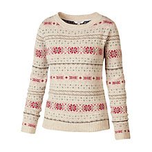 Buy Fat Face Winderton Pattern Jumper, Ivory Online at johnlewis.com