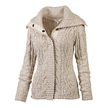 Buy Fat Face Estava Cable Knit Cardigan, Ivory Online at johnlewis.com