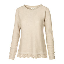 Buy Fat Face Lara Lace Trim Jumper Online at johnlewis.com