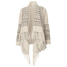 Buy Fat Face Fairisle Waterfall Cardigan, Ivory Online at johnlewis.com