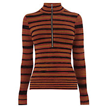 Buy Karen Millen Space Dye Striped Top, Multi Online at johnlewis.com