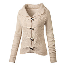 Buy Fat Face Melville Curved Collar Cable Knit Cardigan Online at johnlewis.com