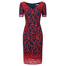 Buy Fenn Wright Manson Lorna Embroidered Dress, Red/Navy Online at johnlewis.com