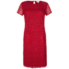 Buy Celuu Jasmine Embroidered Lace Dress, Red Online at johnlewis.com