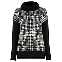 Buy Oasis Prince of Wales Check Jumper, Black and White Online at johnlewis.com