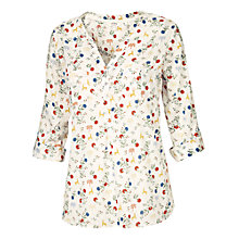 Buy Fat Face Anna Fable Print Popover Top, Ivory Online at johnlewis.com
