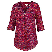 Buy Fat Face Anna Antonia Print Popover Shirt, Rosewood Online at johnlewis.com