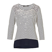Buy Betty Barclay Striped T-Shirt, Cream/Dark Blue Online at johnlewis.com