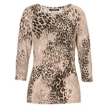 Buy Betty Barclay Animal Print Top, Taupe/Black Online at johnlewis.com