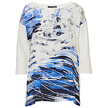Buy Betty Barclay Abstract Top, Cream/Dark Blue Online at johnlewis.com