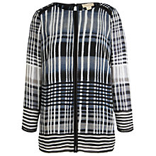 Buy Celuu Hope Check Blouse, Black Online at johnlewis.com