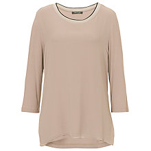 Buy Betty Barclay Chiffon Front Jersey Top, Golden Taupe Online at johnlewis.com