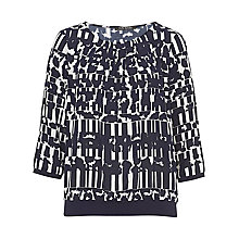 Buy Betty Barclay Graphic Print Top, Dark Blue/Cream Online at johnlewis.com