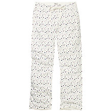 Buy Fat Face Stars And Moon Lounge Bottoms, Fresh Snow Online at johnlewis.com