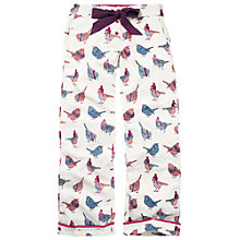 Buy Fat Face Winter Birds In Scarves Print Lounge Pants, Fresh Snow Online at johnlewis.com
