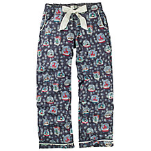 Buy Fat Face Snow Globe Print Pyjama Bottom, Twilight Online at johnlewis.com
