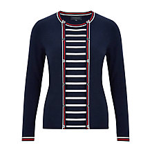 Buy Viyella Nautical Stripe Cardigan, Navy Online at johnlewis.com