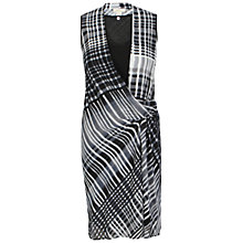 Buy Celuu Adele Check Wrap Dress, Black Online at johnlewis.com