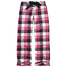 Buy Fat Face Checked Star Pyjama Bottoms, Poinsettia/Multi Online at johnlewis.com