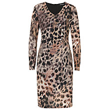 Buy Betty Barclay Animal Print V Neck Dress, Taupe/Apricot Online at johnlewis.com