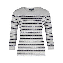 Buy Viyella Petite Pebble Dot Jersey Top, Grey Online at johnlewis.com