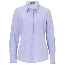 Buy Betty Barclay Cotton Shirt, Lavender Blue Online at johnlewis.com