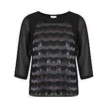 Buy Celuu Verity Sequin Top, Black Online at johnlewis.com