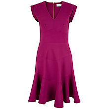 Buy Closet V-neck Panel Skirt Dress, Plum Online at johnlewis.com