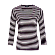 Buy Viyella Petite Texture Top, Purple Online at johnlewis.com