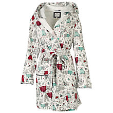 Buy Fat Face Animal Dressing Gown, Fresh Snow Online at johnlewis.com