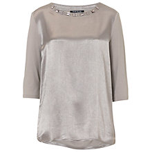 Buy Betty Barclay Embellished Top, Silver Grey Online at johnlewis.com