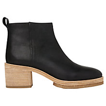 Buy Whistles Bera Crepe Block Heeled Ankle Boots Online at johnlewis.com