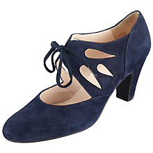 Buy John Lewis Willa Cut Out Shoe Boots, Navy Suede Online at johnlewis.com