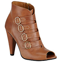 Buy Somerset by Alice Temperley Otterford Open Toe Ankle Boot, Brown Leather Online at johnlewis.com