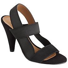 Buy Somerset by Alice Temperley Dean Cone Heeled Sandals, Black Online at johnlewis.com