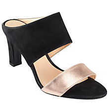 Buy John Lewis Desire Occasion Slip On Block Heeled Sandals, Black Online at johnlewis.com