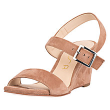 Buy Unisa Davo Wedge Heeled Sandals, Nougat Online at johnlewis.com