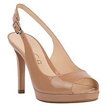 Buy Unisa Tadeo Peep Toe Stiletto Sandals, Blush Online at johnlewis.com