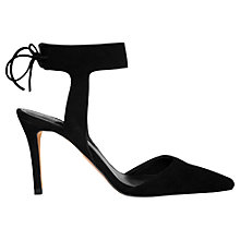 Buy Whistles Vidlin Cut Away Court Shoes, Black Suede Online at johnlewis.com