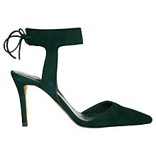 Buy Whistles Vidlin Cut Away Court Shoes,  Dark Green Suede Online at johnlewis.com